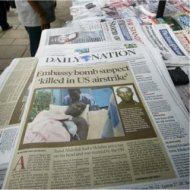 the dialy nation newspaper (kenya) sold on the streets of nairobi