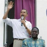 barack obama and raila odinga in kenya