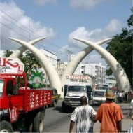 the tusks are mombasa's symbol (kenya)