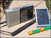 Solar energy radio in Kenya
