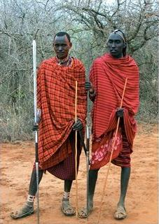 masai warriors, kenya