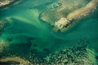 kenya coast, areal view