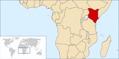 Location of Kenya in Africa
