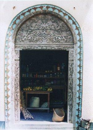 arab style door, lamu, kenya