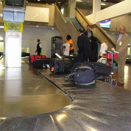 baggage belt at kenyatta airport, nairobi, kenya