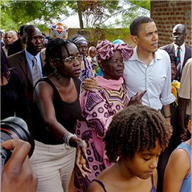 barack obama in kenya with his grandmother