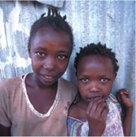 Young beggars in Kenya