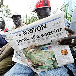 daily nation (kenya) read on the streets