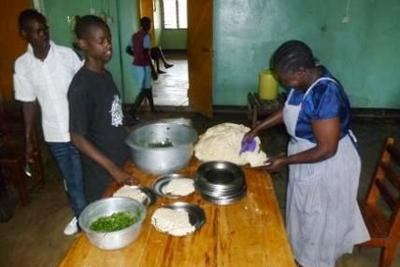Ugali and kale for lunch
