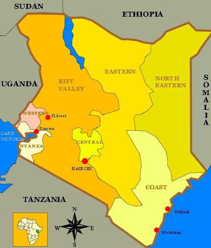 map of the kenyan provinces