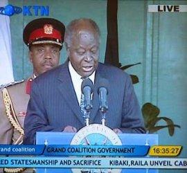 screenshot from KTN kenyan television