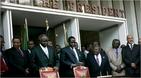 kibaki and odinga sign power sharing deal, kenya