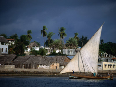 traditional dhow, lamu, kenya