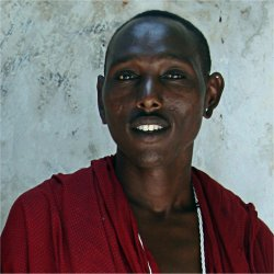 warrior from the masai tribe