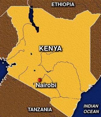 map of nairobi in kenya