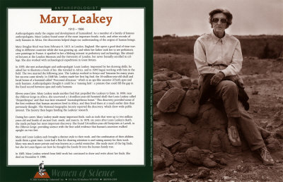 mary leakey, famous anthropologist, trained her son Richard Leakey herself