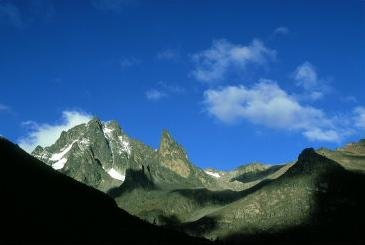blue sky of mount kenya