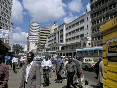Nairobi, Moi Avenue street scene, Kenya