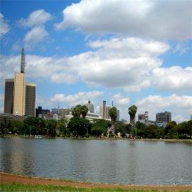 skyline of nairobi, kenya