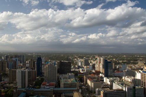 The Nairobi skyline, Kenya