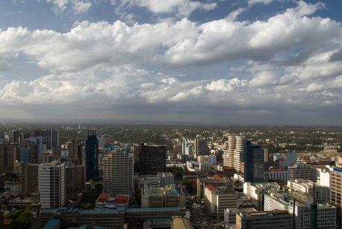 The Nairobi skyline, Kenya