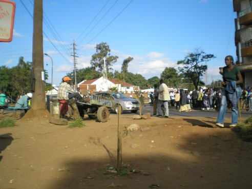 Nairobi street scene, Kenya