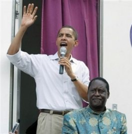 barack obama and raila odinga in kenya