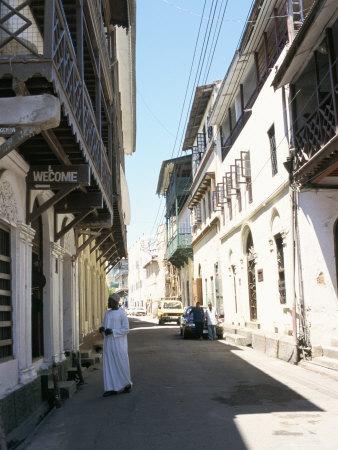 street in old town, mombasa, kenya