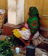 pregnant woman in mombasa, kenya