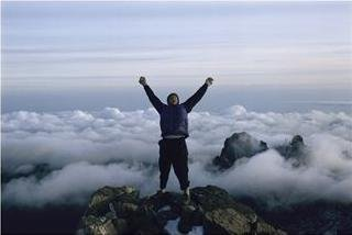 reaching the top or summit of mount kenya