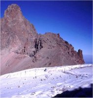 Mount Kenya's snow