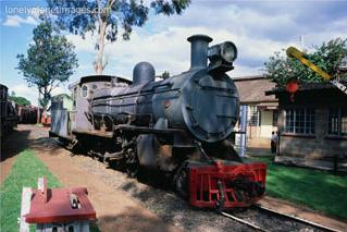 steam engine, railway museum, nairobi, kenya