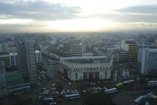 view over nairobi, from hilton hotel, kenya