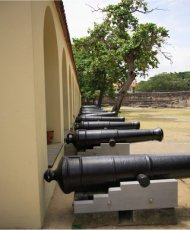 cannons of fort jesus, mombasa, kenya