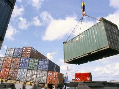 container terminal, mombasa harbour, kenya