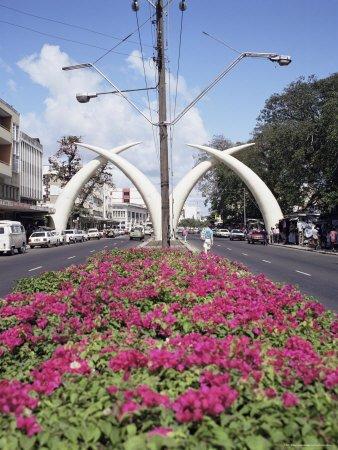 elephant tusks, moi avenue, mombasa, kenya
