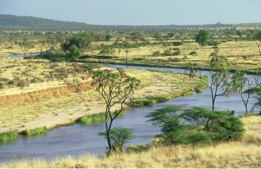 Ewaso Ngiro River in Samburu National Reserve, Kenya