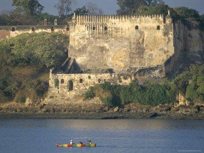 fort jesus from the waterside, mombasa, kenya