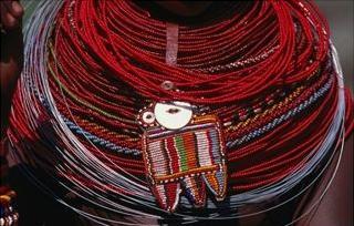 jewelry samburu girl, kenya