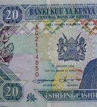 20 Shilling Note, Kenya