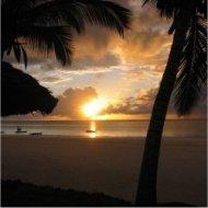 sunset at mombasa beach, kenya