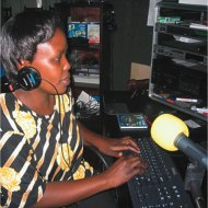 A Kenyan radio journalist