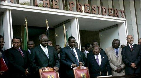 kibaki and odinga sign power sharing deal, kenya