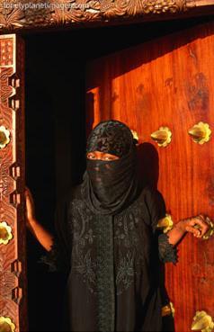 muslim woman, lamu, kenya