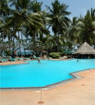 swimming pool of the serena beach hotel, mombasa, kenya
