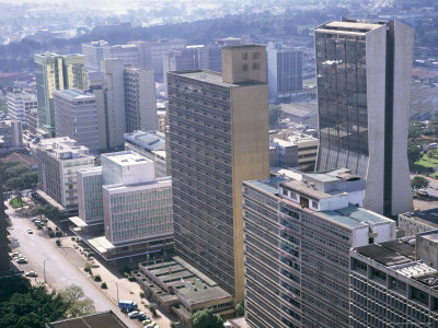 Skyline of Nairobi, Kenya