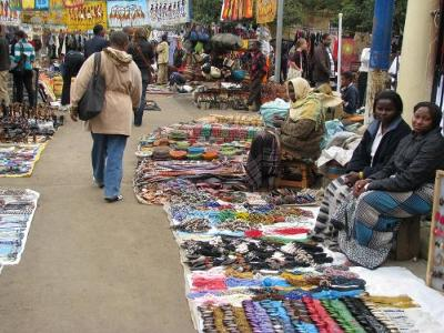 Above: the Maasai Market