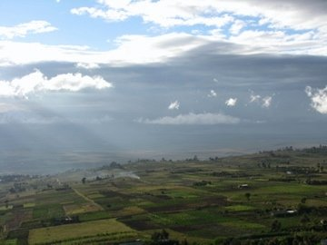 First view of the Rift Valley