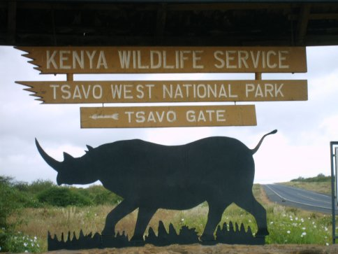 Main gate of Tsavo West National Park, Kenya