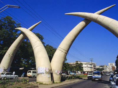 tusk arches, mombasa, kenya